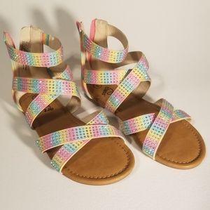 🌸 Art Class Size 3 Girls Rainbow Sandals